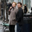 Annette Bening shoots a stunt scene where she pretends to get hit by a bus on the set of 'Life, Itself' in downtown Manhattan, New York on March 25, 2017 - 420 x 600