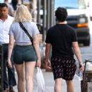 Sophie Turner in Shorts with Joe Jonas – Out in SoHo