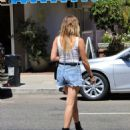 Ashley Benson – Visiting nail salon in Studio City
