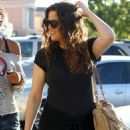 Khloe Kardashian, Lamar Odom leaving Tosconova Italian restaurant in the Calabasas Commons with Kylie Jenner and Lamar's daughter, Destiny (July 6)