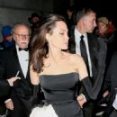 Angelina Jolie in Black Dress at Cipriani Wall St. in New York City