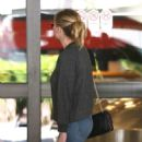 Kirsten Dunst with Jesse Plemons at LAX Airport in Los Angeles