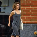 Keri Russell - Makes A Run For It In The New York Rain, 2008-08-11