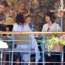 Vanessa Hudgens and Austin Butler mingled with model Luciana Gimenez Morad and her son Lucas Jagger in Portofino, Italy - 19 June 2016