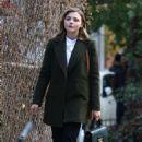 Chloe Moretz – Filming 'The Widow' in NYC - 454 x 695