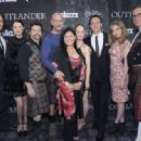 The Outlander Cast, the writer Diana Gabaldon, the producer Ronald D.Moore and  Managing Director for Starz Carmi Zlotnik -  Starz Series 'Outlander' Premiere - Comic-Con International 2014 - 454 x 318