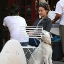 Olivia Wilde Having Coffee With A Friend