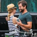 Couple Diane Kruger and Joshua Jackson spotted out and about in New York City, New York on July 8, 2015 - 449 x 600
