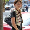 Mischa Barton - Candids In Marching Band Jacket In NYC 9/4/2009