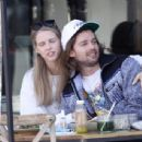 Abby Champion and Patrick Schwarzenegger – Spotted while out for lunch at Kreation in Brentwood - 454 x 344