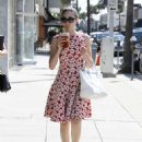 Emmy Rossum In Floral Dress Out In Beverly Hills