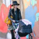 Nicky Hilton is spotted pushing her daughter Lily Grace in a stroller in New York City, New York on October 14, 2016 - 403 x 600