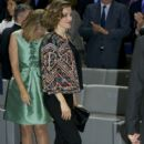 Spanish Royals Attend a Meeting with Ambassadors of the Spanish Brand