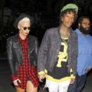 Amber Rose and Wiz Khalifa at the Jay Z Concert at the Staples Center in Los Angeles, California - December 9, 2013