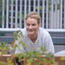 Rosie Huntington Whiteley at a park in Malibu