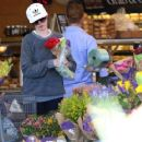 Anne Hathaway Shopping Flower in Beverly Hills