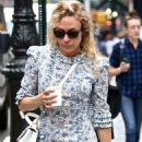 Chloe Sevigny in Blue Floral Dress in New York City - 454 x 694