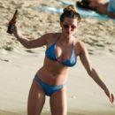 Zara Holland – Bikini Candids at A Beach In Barbados - 454 x 681