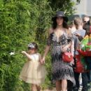 Jenna Dewan-Tatum is seen out with her daughter Everly Tatum at a farmer's market in Studio City, California on March 26, 2017