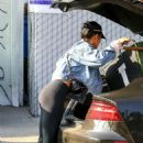 Vanessa Hudgens in Tights at a local vintage store in Atwater Village - 454 x 681