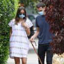 Ana De Armas with her brother Out for a stroll in Venice – California