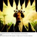 Scrat (voice by Chris Wedge) once again finds himself in harm's way – this time, coming up against a fearsome dinosaur. Photo credit: Blue Sky Studios. ©2009 Twentieth Century Fox Film Corporation. All rights reserved. - 454 x 296