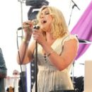 Charlotte Church performs live with her rock band at Blissfields Music Festival on the second stage