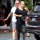 Claire Holt with her family out to lunch in West Hollywood - 454 x 519