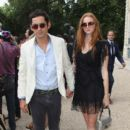 Lily Cole And Enrique Murciano - Christian Dior Paris Fashion Show F/W On July 5, 2010 - 399 x 600