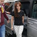 Cheryl Cole: at the Radio One studios in London