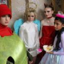 The gang Georgia Groome, Georgia Henshaw, Eleanor Tomlinson and Manjeeven Grewal in Angus, Thongs and Perfect Snogging.