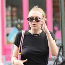 Dakota Fanning in Black Dress – Out in New York