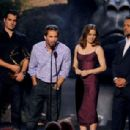 Zack Snyder, actors Amy Adams, Russell Crowe, and Henry Cavill speak onstage during Spike TV's Guys Choice 2013