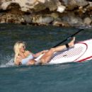 Victoria Silvstedt Paddeboarding In Bikini In Saint Barthelemy