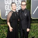 Gary Oldman and his wife Gisele Schmidt At The 75th Golden Globe Awards (2018)