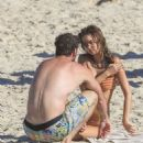 Gabriella Brooks in Bikini on the beach in Byron Bay - 454 x 526