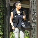 Kim Kardashian Leaving Her Home in LA