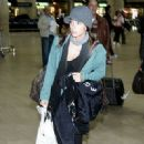 Sarai in the airport - Israel 11/2009