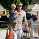 Eric Dane take daughters Billie and Georgia out to lunch in West Hollywood
