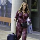 Claire Sweeney – Leaving BBC Breakfast Studios in Manchester