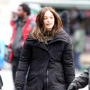 Kristin Kreuk On The Set Of Beauty and The Beast In Toronto