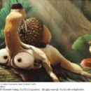 Scratte (voiced by Karen Disher) schemes to remove an acorn stuck to Scrat's (voiced by Chris Wedge) belly. Photo credit: Blue Sky Studios. ICE AGE 3 TM and © 2009 Twentieth Century Fox Film Corporation. All rights reserved. - 454 x 286