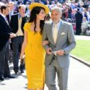 George Clooney and Amal Alamuddin :  Prince Harry Marries Ms. Meghan Markle - Windsor Castle - 420 x 600