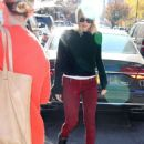 Margot Robbie in Red Pants – Out and about in New York City