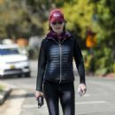 Helen Hunt – Out for a walk in Brentwood