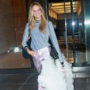 Romee Strijd – Seen Arriving at the Victoria's Secret fitting in New York - 454 x 680