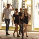 Scarlett Johansson and boyfriend Nate Naylor out at Le Schmuck restaurant in Paris, France (August 19)
