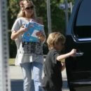 Kate Hudson Taking Son Ryder To School