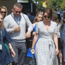 Candice Brown and fiance Liam Macaulay – Arriving at Wimbledon Tennis Tournament in London - 454 x 703