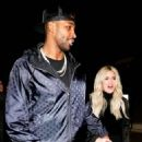Khloe Kardashian and Tristan Thompson at Craig's in West Hollywood